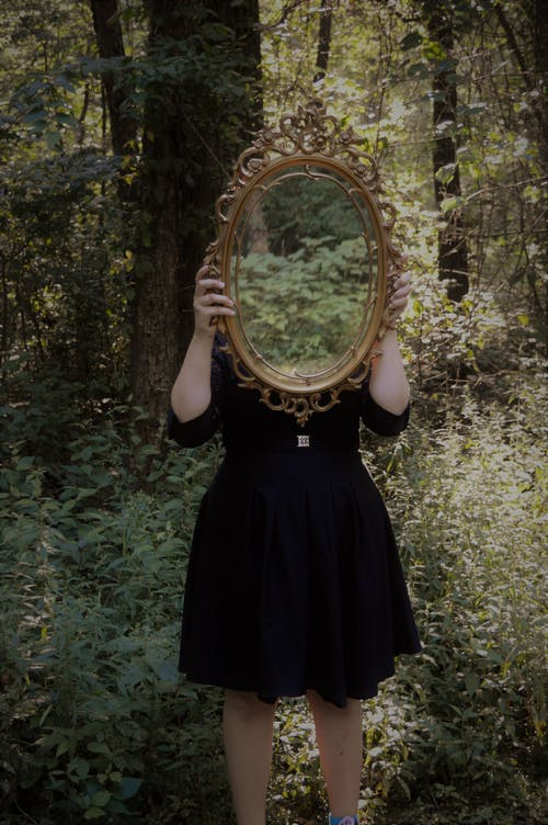 Mirror in the woods